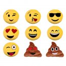 Emoticon Emoji-con Lach Smiley Kissen